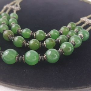 Natural Polished Jade Stone Layered Necklace